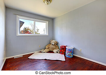Empty kids room with toys
