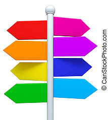 Colorful signpost