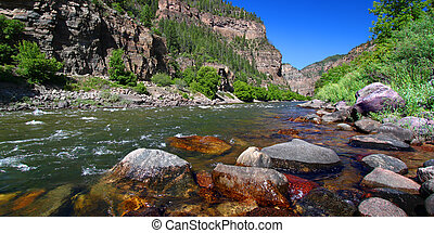 Colorado River in Glenwood Canyon - Colorado River flows...