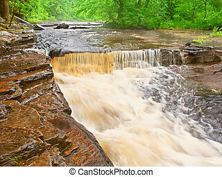 Canyon Falls Michigan Northwoods - Canyon Falls flowing...
