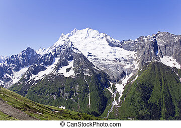 Caucasus mountains in Russia - Landscape of mountains...