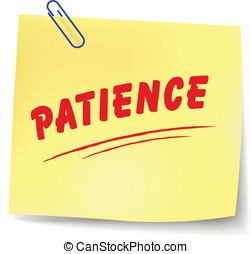 Vector patience message