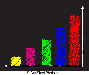 drawing of graph - colorful drawing graph vector