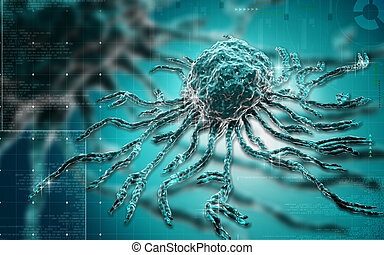 Stem cell - Digital illustration of stem cell in colour...
