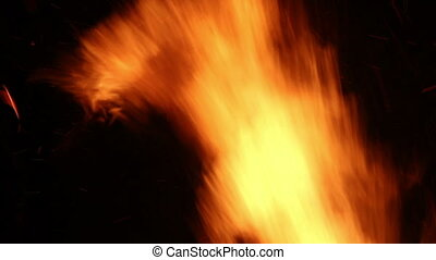 Fire Flames - close-up flame of campfire