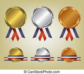 Three medals illustration