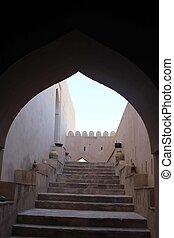 Nakhal Fort entrance door