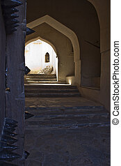 Nakhal Fort door Entrance
