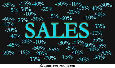 sale sign with discounts black and green
