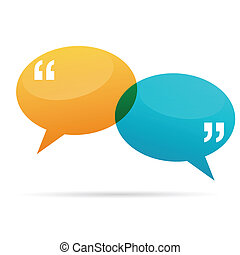 Quote Talk Bubbles - Vector illustration of quote talk...