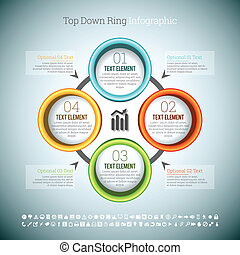 Top Down Ring Infographic - Vector illustration of top down...