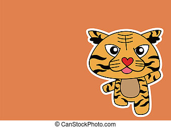 Illustration of Tiger cartoon