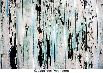 Peeling Paint - Textue of old paint peeling of wood