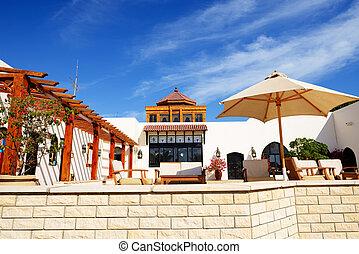 recreación, área, lujo, hotel, Sharm, jeque,...