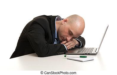 地方, 工作, 睡覺, 商人, 疲倦