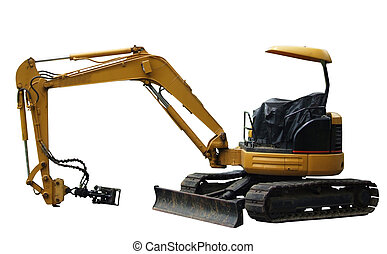 Mechanical digger side view