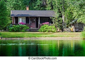 Old Finnish summer cottage at a lake - Cottage by the lake...