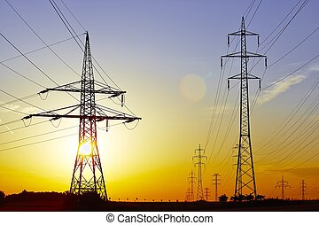 Electric power lines - High voltage - electric power lines...