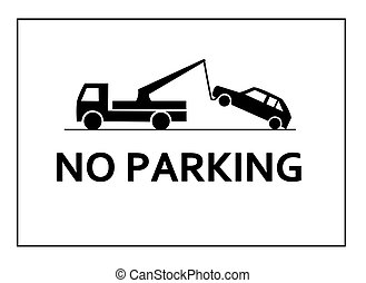 No parking - Traffic sign - no parking.