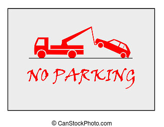 No parking - Red traffic sign - no parking.