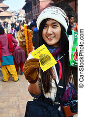 Thai Photography show entrance ticket of Patan Durbar Square...