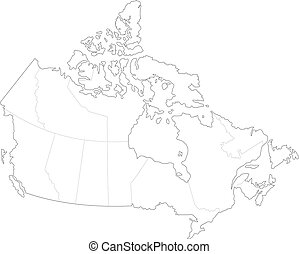 Map of Canada - This is a simple map of Canada.