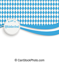 Bavarian Oktoberfest Flyer - Oktoberfest design on the white...