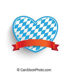 Bavarian Heart - Heart in bavarian colors on the white...