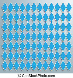 Bavarian National Colors - Blue rhombus pieces on the grey...