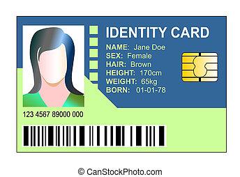 genérico, astilla, identificación, tarjeta