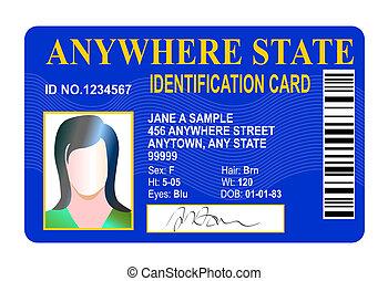estado, identificación, tarjeta