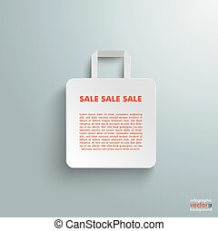 White Paper Shopping Bag - White paper shopping bag on the...