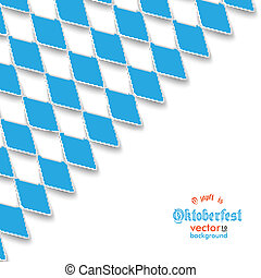 Bavarian National Colors Cover - Blue rhombus pieces on the...