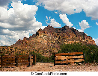 Corral in Sonora desert in central Arizona USA