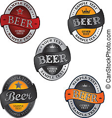 beer theme vector graphic art design illustration