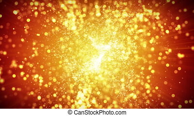 springing gold particles loopable