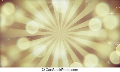 gold bokeh lights and rays loopable background - gold bokeh...
