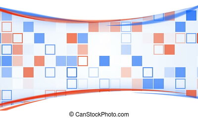 blue orange squares and lines loopable background