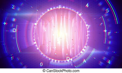 abstract techno loopable background - abstract techno...