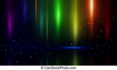 colorful light stripes and reflection loopable background -...