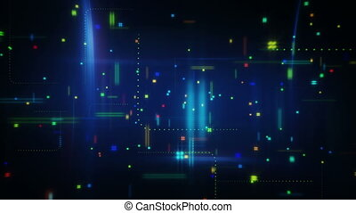abstract information techno loopable animation - abstract...