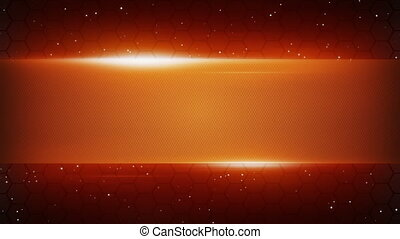 orange futuristic title plate loopable background
