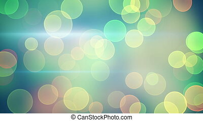 bright green yellow bokeh lights loopable background -...