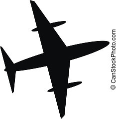 Airplane icon - Plane icon on white background. Vector...