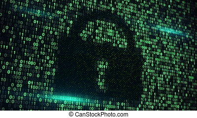 cyberspace digital lock loopable background - cyberspace...