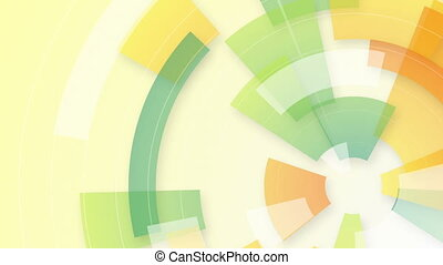 colorful circular segments loop background - colorful...