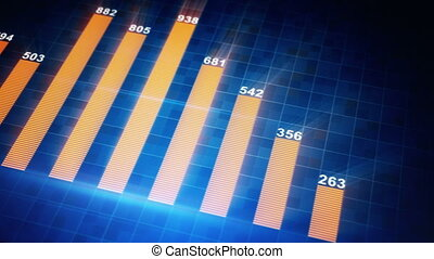 modern business graph chart seamless loop animation