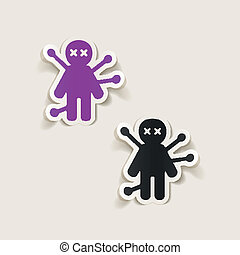 realistic design element: voodoo Doll
