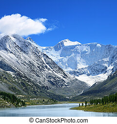 mountain lake - beautiful mountain lake at the foot of the...