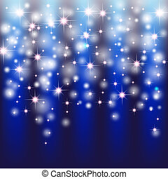 blue background with sparkles